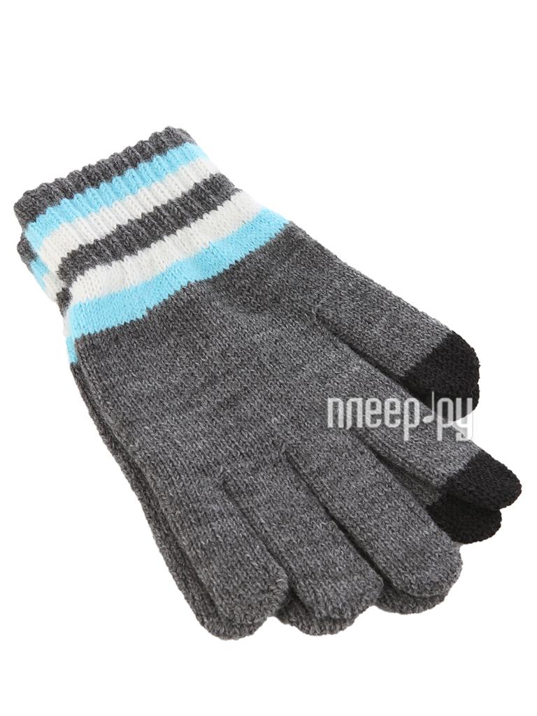 Теплые перчатки для сенсорных дисплеев iCasemore трикотажные Grey