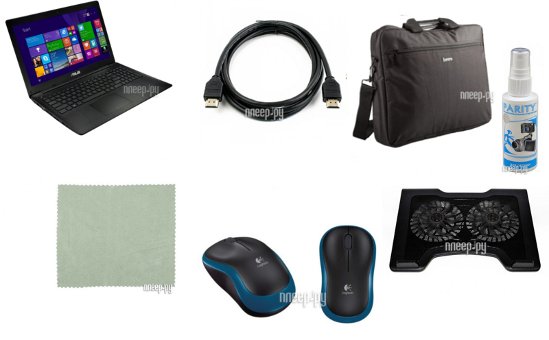 Ноутбук ASUS X553MA-XX092D 90NB04X1-M03920 Выгодный набор!!! (Intel Celeron N2830 2.16 GHz/4096Mb/50. Доставка по России