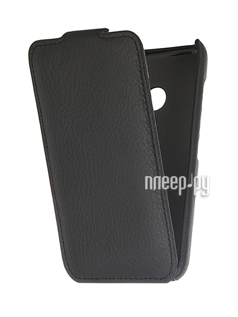 Nokia Lumia 530 Dual Sim Clever Case ShellCase PU Black PS047Nokia Lumia 530 Dual Sim Black
