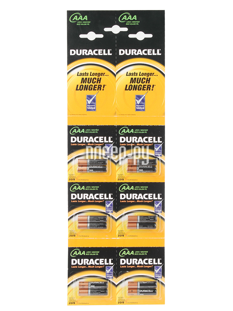 Батарейка AAA - Duracell LR03 BL12 2x6 (12 штук)