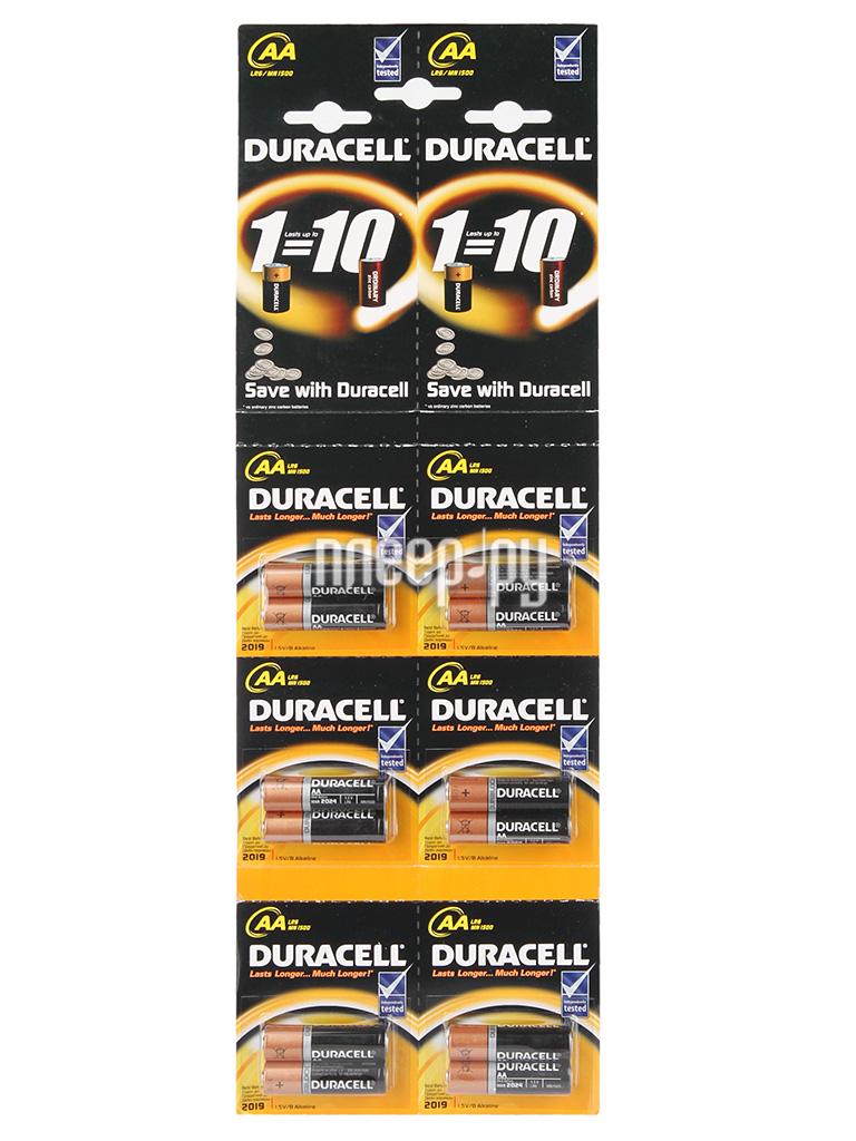 Батарейка AA - Duracell LR6 2x6 BL12 (12 штук)