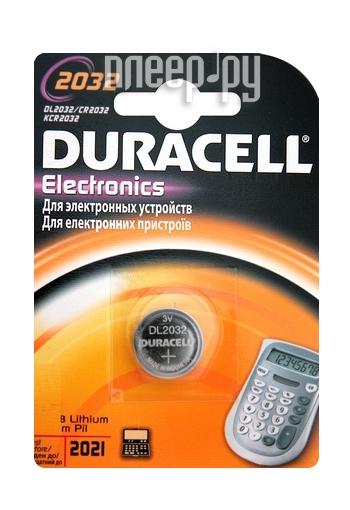 Батарейка CR2032 - Duracell CR2032 BL1 (1 штука)