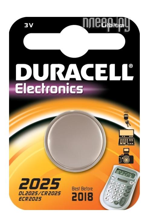 Батарейка DL2025 / CR2025 - Duracell DL2025 BL1 (1 штука)