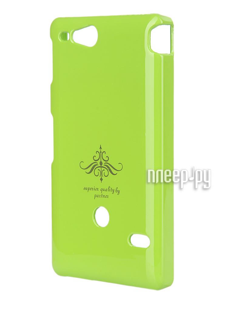 Аксессуар Чехол-накладка Sony ST27i Xperia Go Partner Glossy Green ПР027980