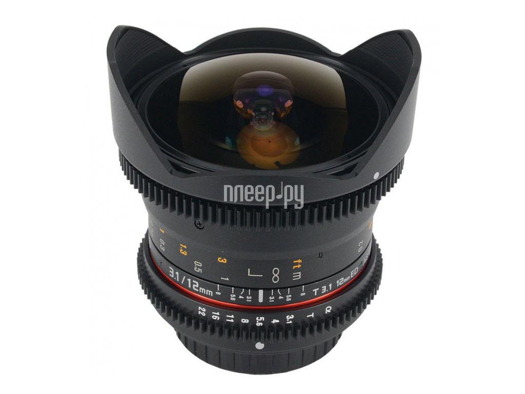 Объектив Samyang Sony / Minolta MF 12 mm T3.1 VDSLR