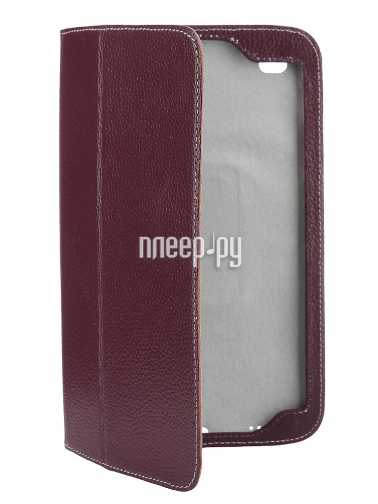 Аксессуар Чехол Samsung Galaxy Tab 4 8.0 Jet.A SC8-26 кожа Purple-Grey