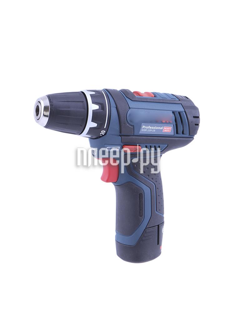 Электроинструмент Bosch GSR 12V-15 2.0Ah x2 L-BOXX 0601868109