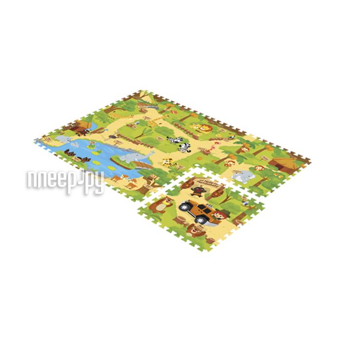 Развивающий коврик Mambobaby Зоопарк двухсторонний 71105