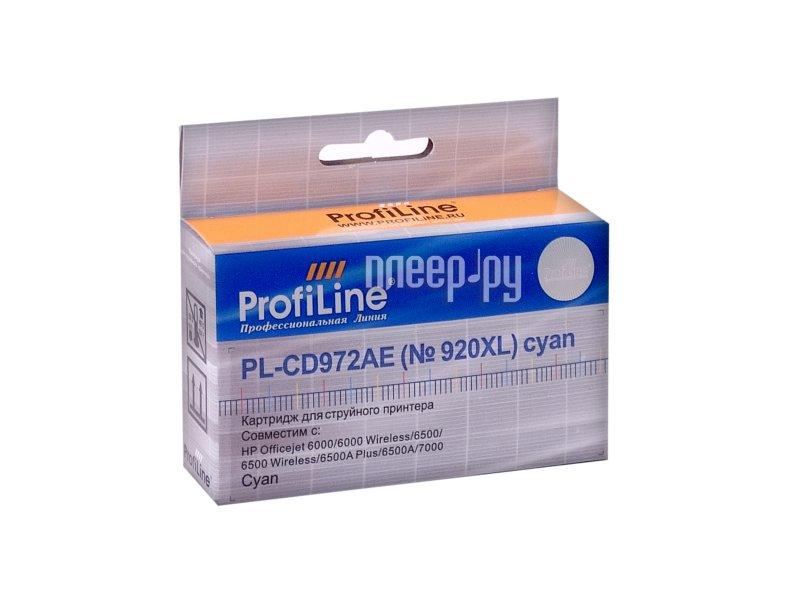 Картридж ProfiLine PL-CD972AE №920XL for HP 6000 / 6500 / 7000 Cyan