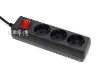 Сетевой фильтр 5bites 3 Sockets 1.8m Black SP3-B-18E
