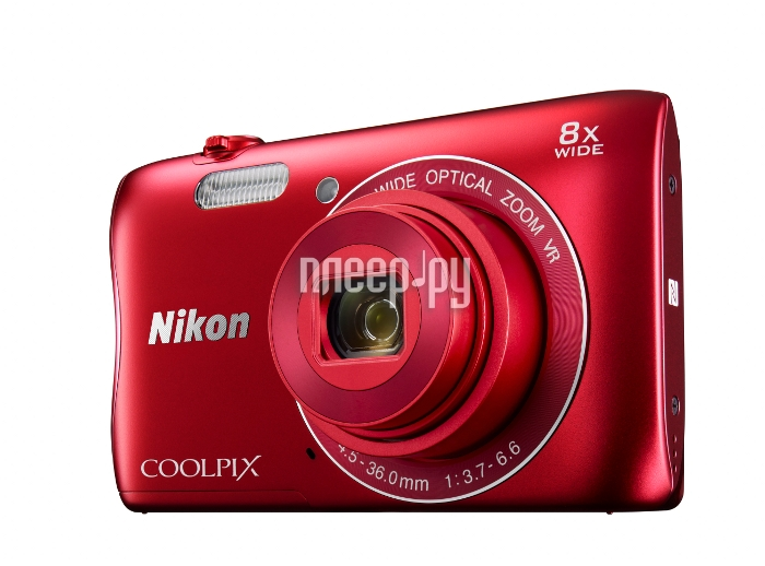 Фотоаппарат Nikon Coolpix S3700 Red