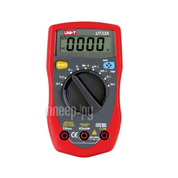 Мультиметр UNI-T UT33A Red-Black