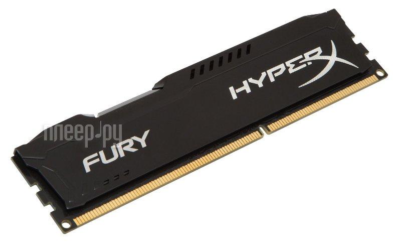 Модуль памяти Kingston HyperX Fury Black DDR3 DIMM 1333MHz PC3-10600 CL9 - 4Gb HX313C9FB/4