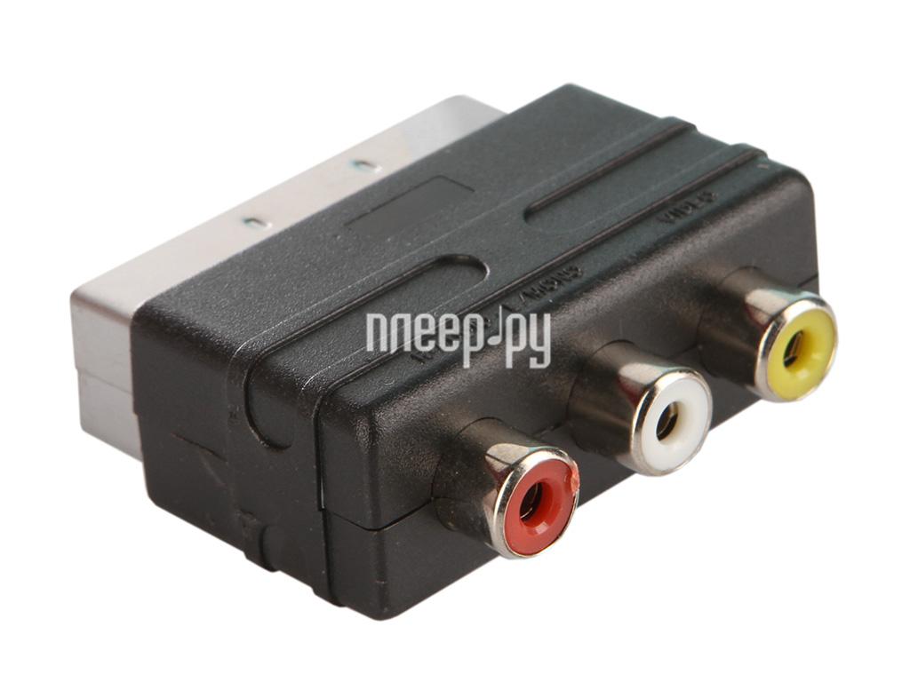 Аксессуар Perfeo SCART (21 PIN) M / IN-3xRCA / F A7007