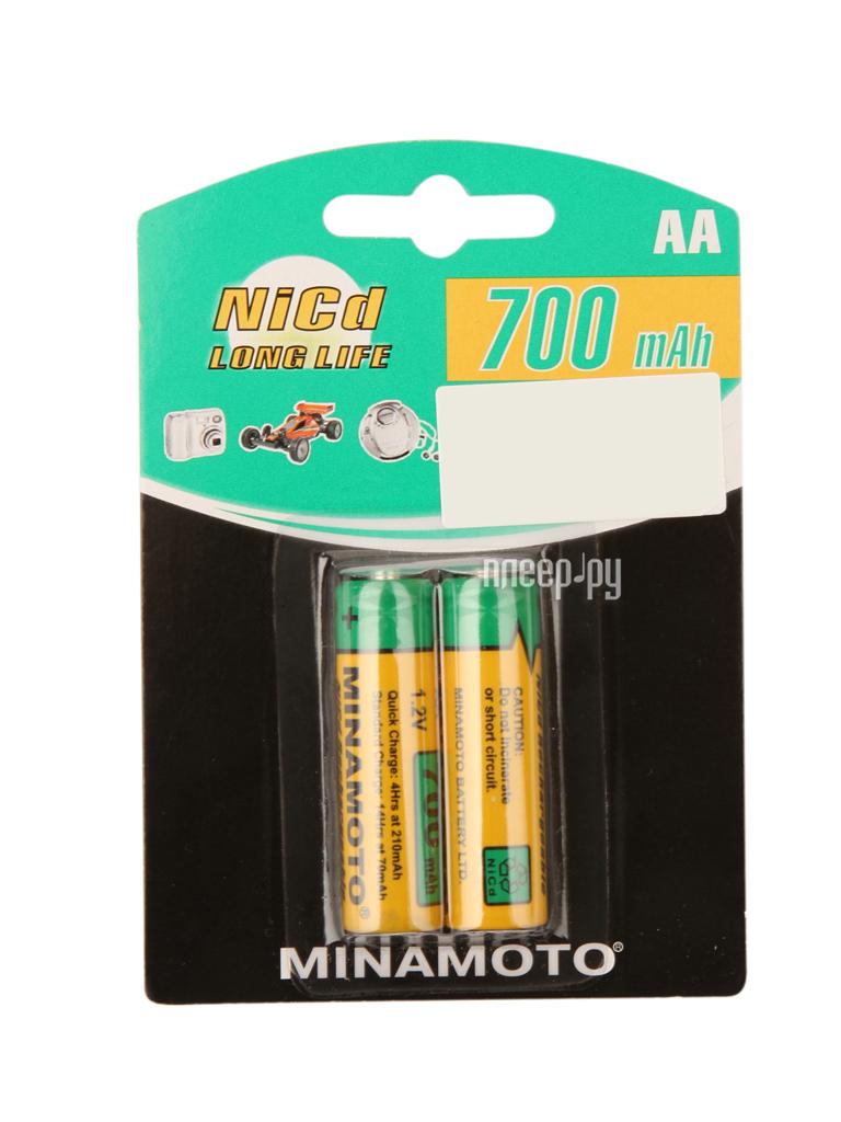 Аккумулятор AA - MINAMOTO 700 mAh NiCd (2 штуки)