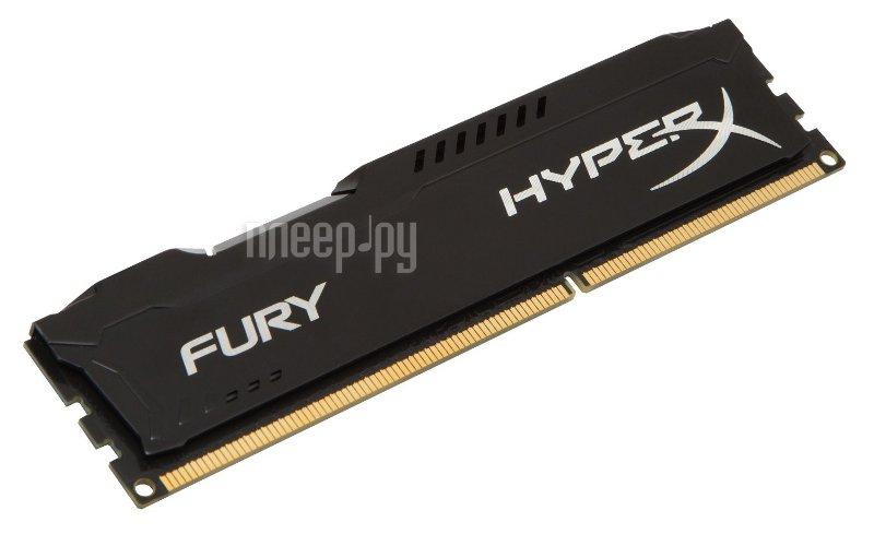 Модуль памяти Kingston HyperX Fury Black DDR3 DIMM 1866MHz PC3-15000 CL10 - 8Gb HX318C10FB/8