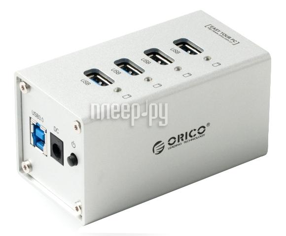 Orico A3H4-SV USB 4-Ports Silver