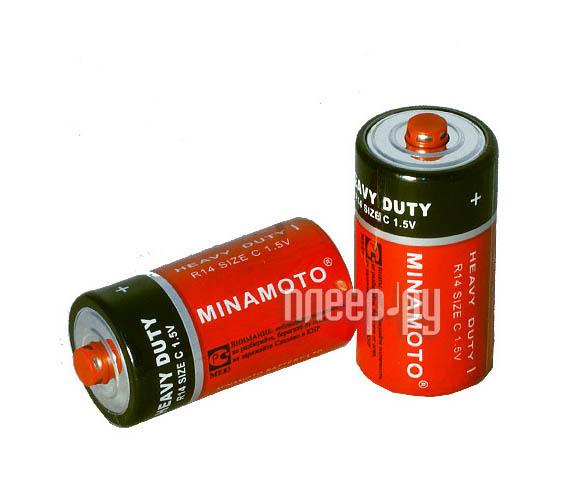 Батарейка C - MINAMOTO 1.5V R14 SR2 (2 штуки)