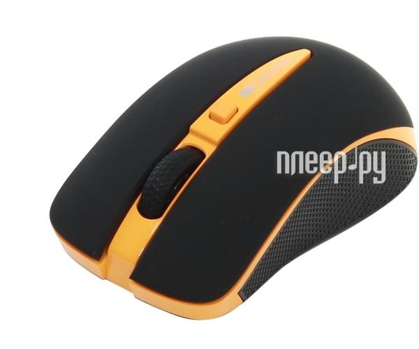 Мышь беспроводная Canyon CNS-CMSW6O USB Black-Orange