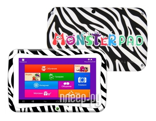 Планшет TurboPad MonsterPad White (Cortex A7 1.2 GHz / 1024Mb / 8Gb / Wi-Fi / Cam / 7.0 / 1024x600 / Android)