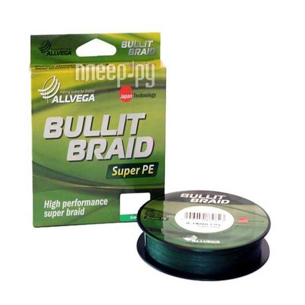 Шнур плетёный Allvega Bullit Braid 135m 0.14mm Dark Green