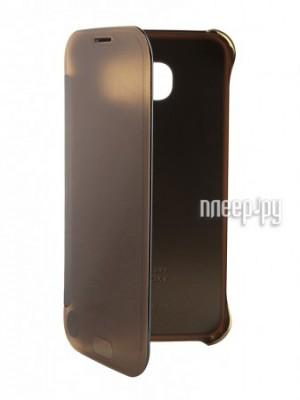 Аксессуар Чехол Samsung SM-G920 Galaxy S6 Clear View Gold EF-ZG920BFEGRU