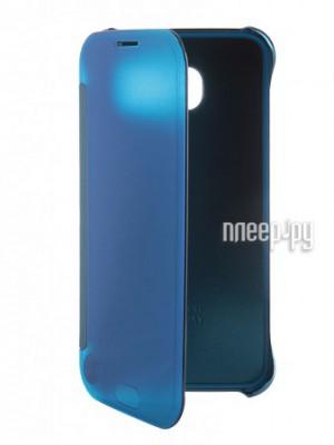Аксессуар Чехол Samsung SM-G920 Galaxy S6 Clear View Blue EF-ZG920BLEGRU