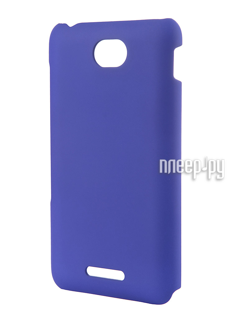 Аксессуар Чехол Sony Xperia E4 Muvit MFX Rubber Back Case Blue SEBKC0037