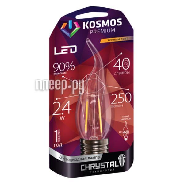 Лампочка Космос Premium Золотая Нить KLED2.4wCWE2727GF
