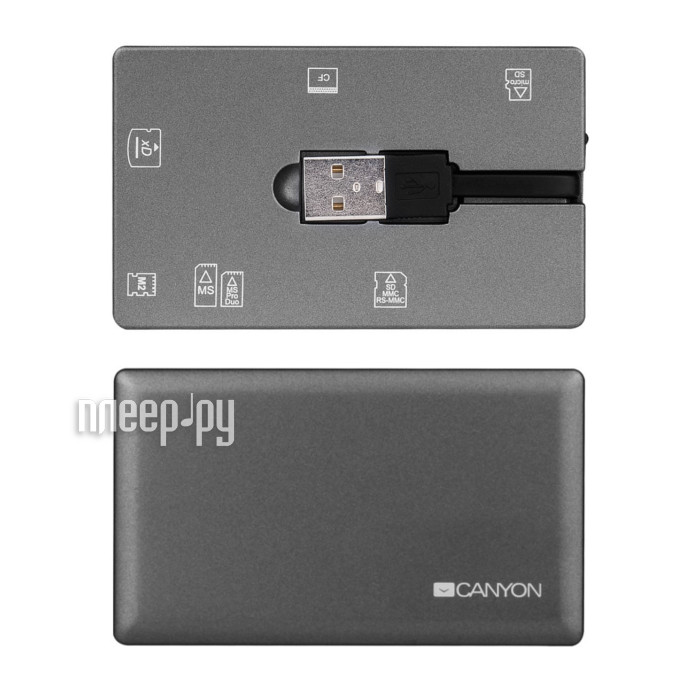 Карт-ридер Canyon CardReader All in One CNE-CARD2 Gray