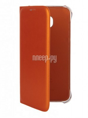 Аксессуар Чехол Samsung SM-G920 Galaxy S6 Flip Wallet Orange EF-WG920POEGRU