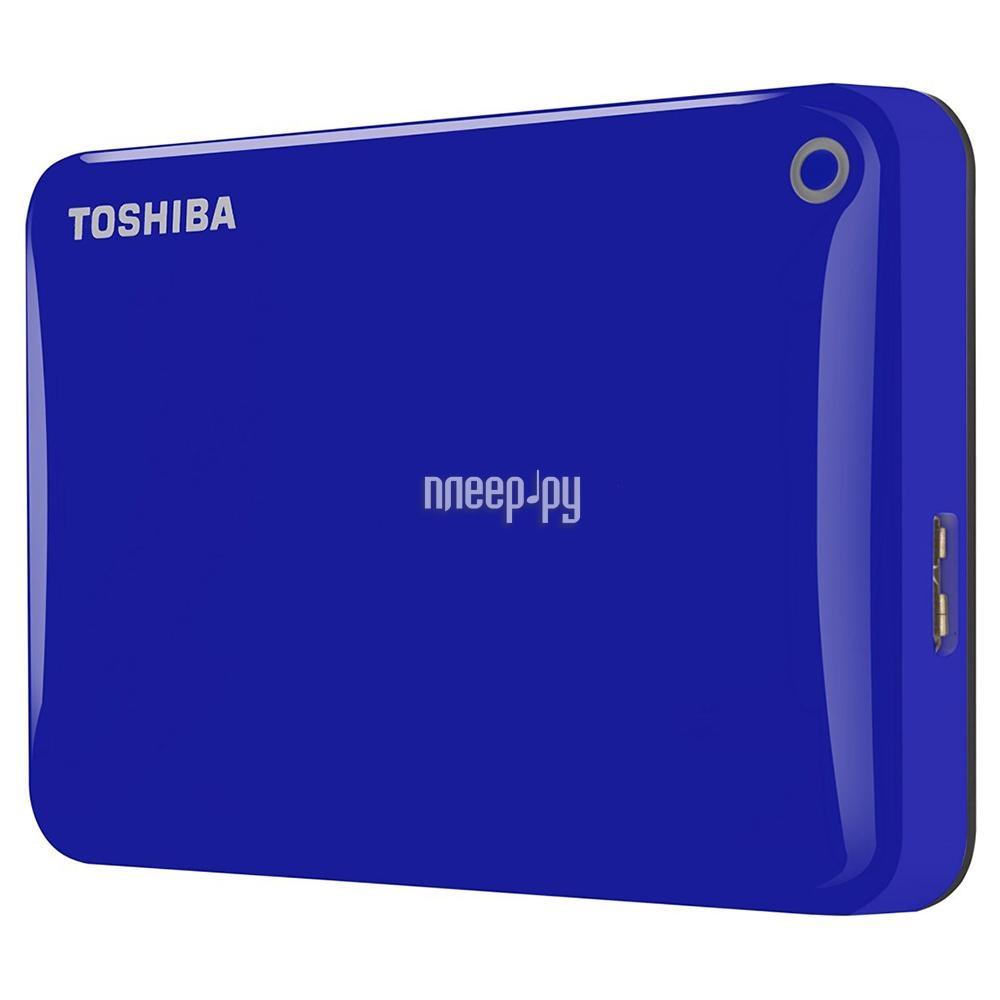 Жесткий диск Toshiba Canvio Connect II 500Gb Blue HDTC805EL3AA