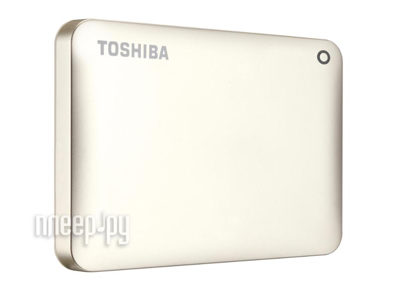Жесткий диск Toshiba Canvio Connect II 3Tb Satin Gold HDTC830EC3CA