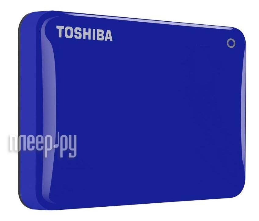Жесткий диск Toshiba Canvio Connect II 3Tb Blue HDTC830EL3CA