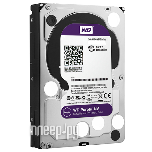 Жесткий диск 6Tb - Western Digital Purple NV WD6NPURX купить