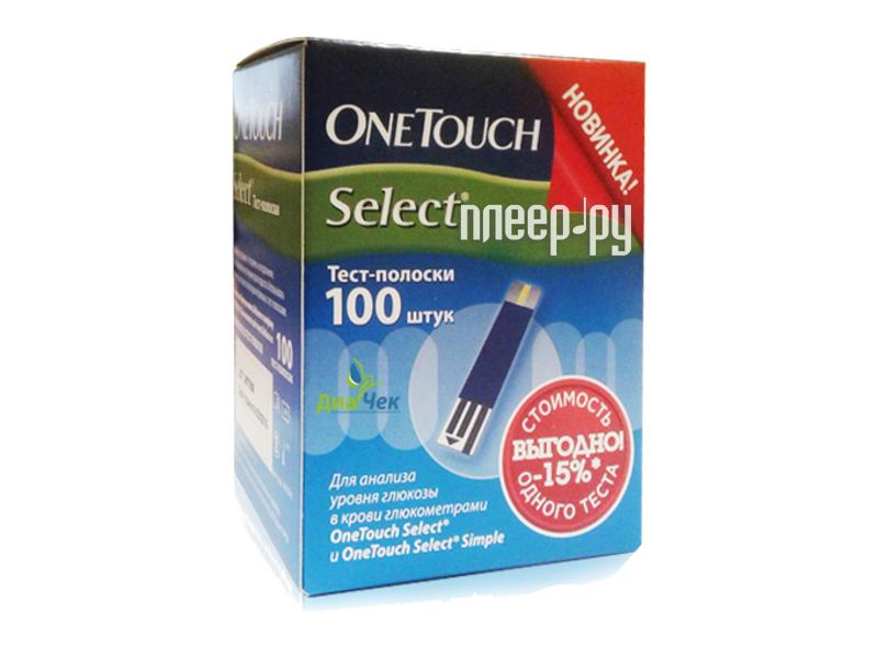 Аксессуар OneTouch Select 100шт тест-полоски