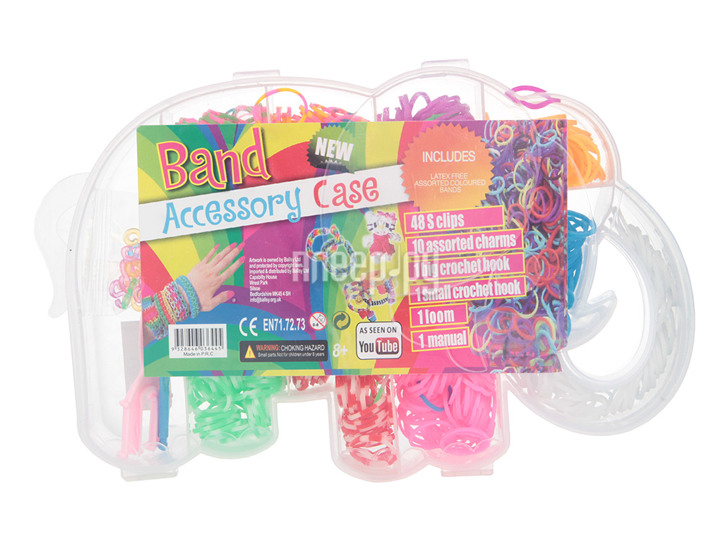Набор для творчества DIY Резиночки для плетения Слоник купить