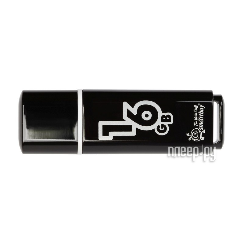 USB Flash Drive 16Gb - Smartbuy Glossy Black SB16GBGS-K за 286 рублей