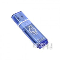 USB Flash Drive  4Gb - Smartbuy Glossy Blue SB4GBGS-B