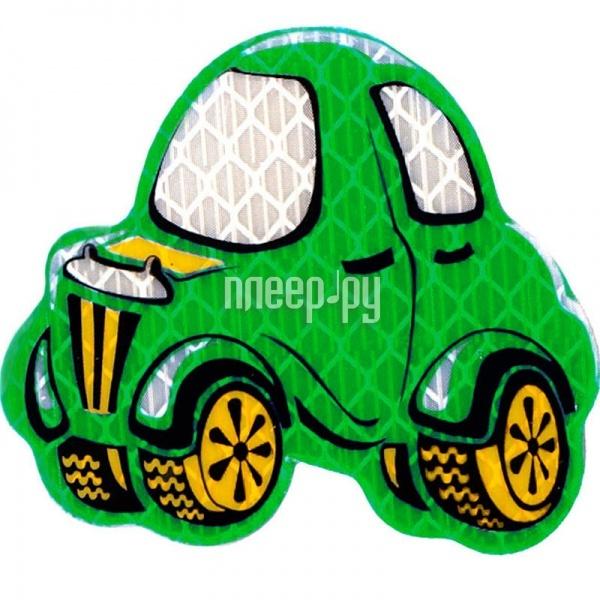 Светоотражатель Cova Значок Автомобиль Green 55x55mm 333-151