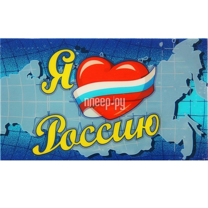 Коврик на торпедо СИМА-ЛЕНД Я Люблю Россию 127989