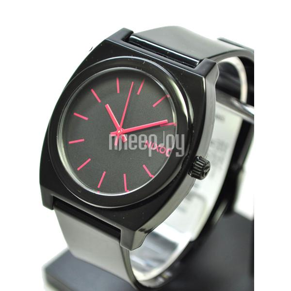 Часы Nixon Time Teller P Black-Bright Pink