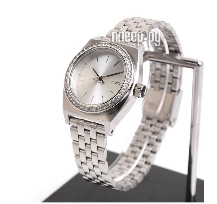 Часы Nixon Small Time Teller All Silver Crystal