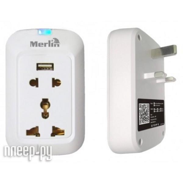 Розетка Merlin Wi-Fi Smart Wall Socket