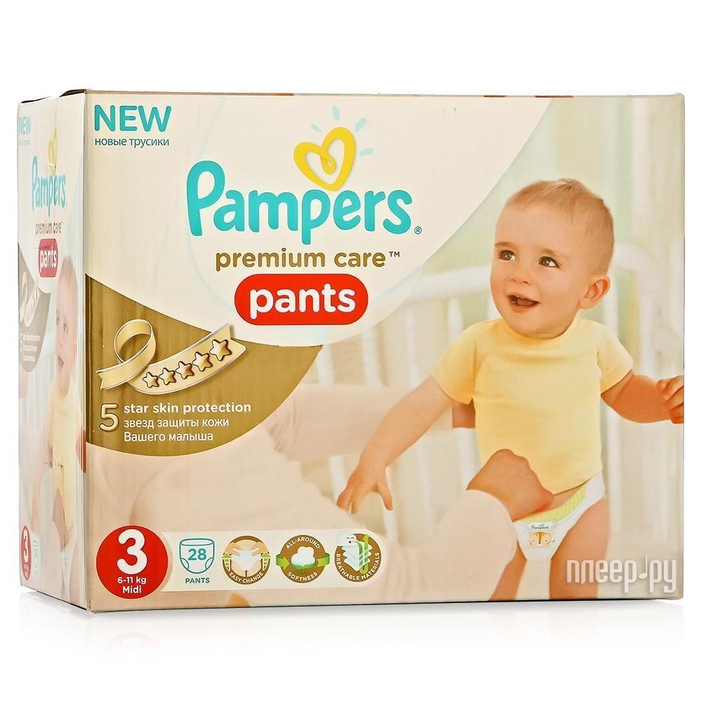 Подгузники Pampers Premium Care Midi 6-11кг 28шт 4015400681175