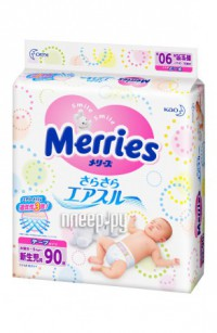 Подгузники Merries NB 0-5кг 90шт 62020310