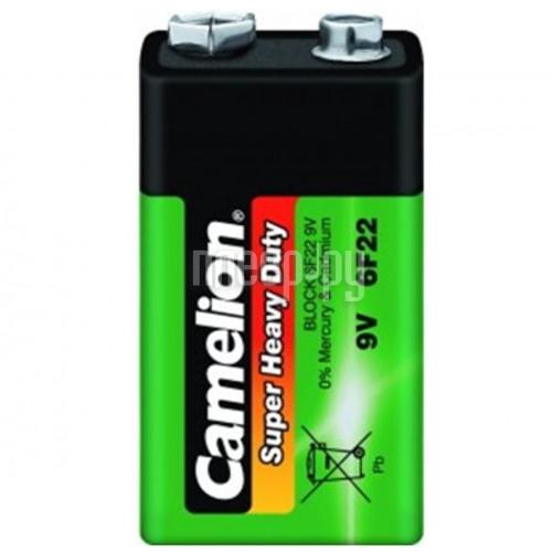 Батарейка КРОНА Camelion 6F22 Green 6F22-BP1G