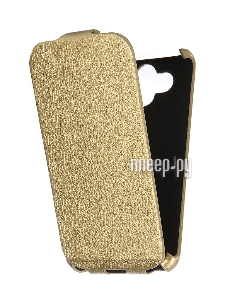 Аксессуар Чехол-книжка Mariso for LG AKA Ultra Slim экокожа Gold Флотер MUSLGAKA