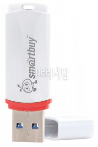 USB Flash Drive 32Gb - SmartBuy Crown White SB32GBCRW-W