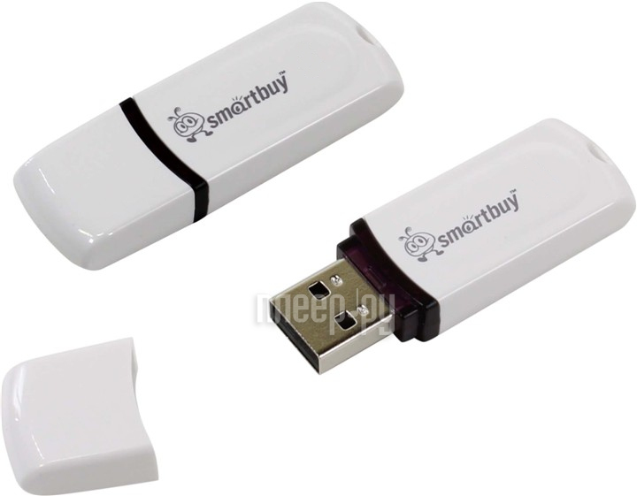 USB Flash Drive 32Gb - SmartBuy Paean White SB32GBPN-W